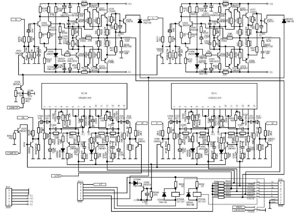步步高av213功放电路图